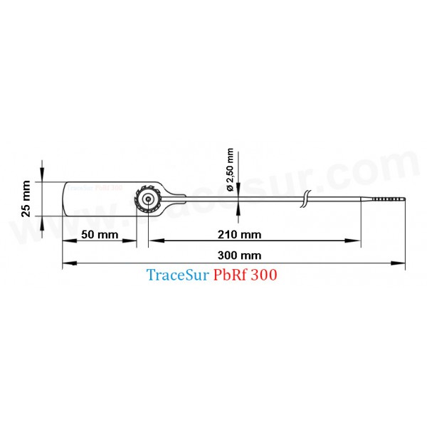 Technic design of security seal fine length tail
