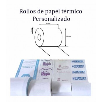 papel cajas registradoras personalizado