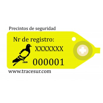 Numbered securty seals for live animal transport cages